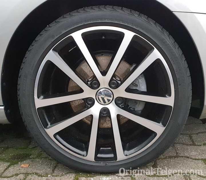 VW Alufelge CHARLESTON schwarz glänzend