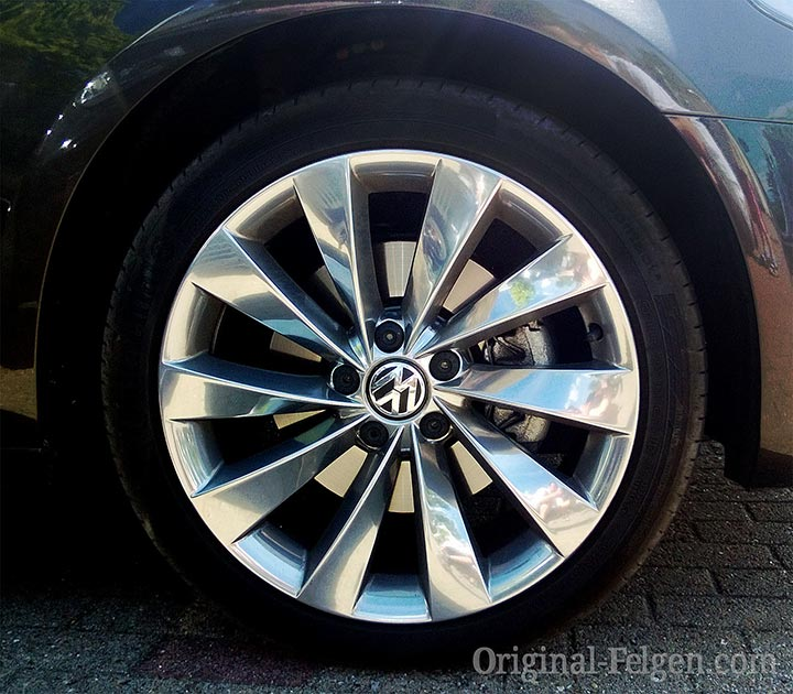 VW Alufelge INTERLAGOS Alu poliert