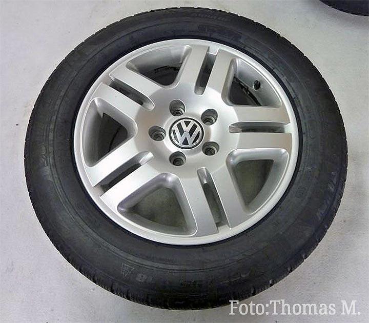 VW Scheibenrad Alufelge MANHATTAN brillantchrom