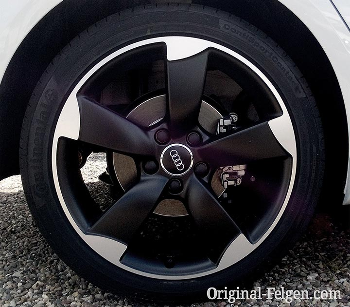Audi Rotor Design schwarz poliert